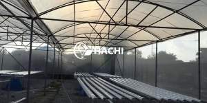 Trong trang trại thủy canh Tiên Du mỗi lô thủy canh được thiết kế một bể chứa dung dịch riêng